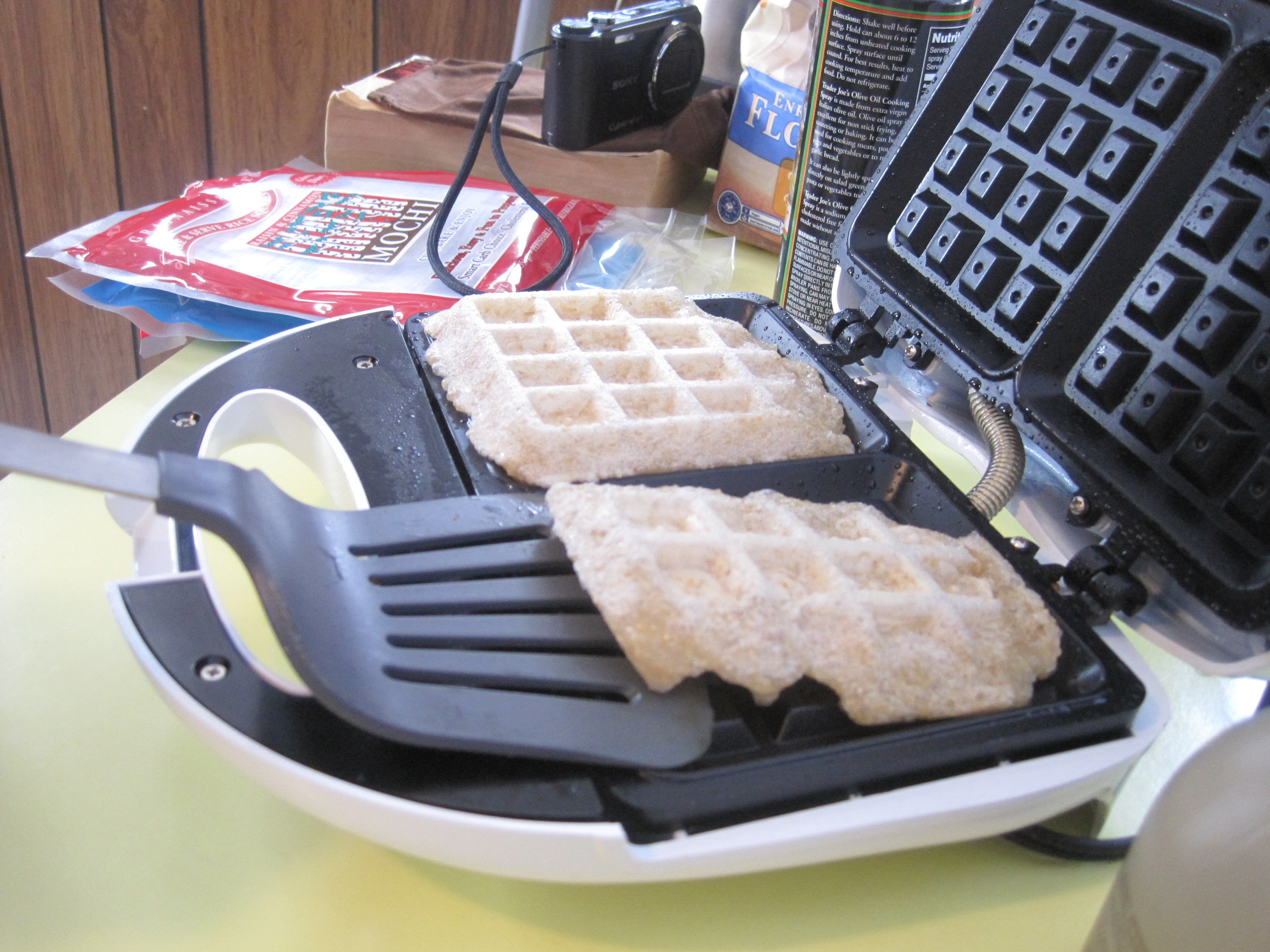 how to make mochi waffles
