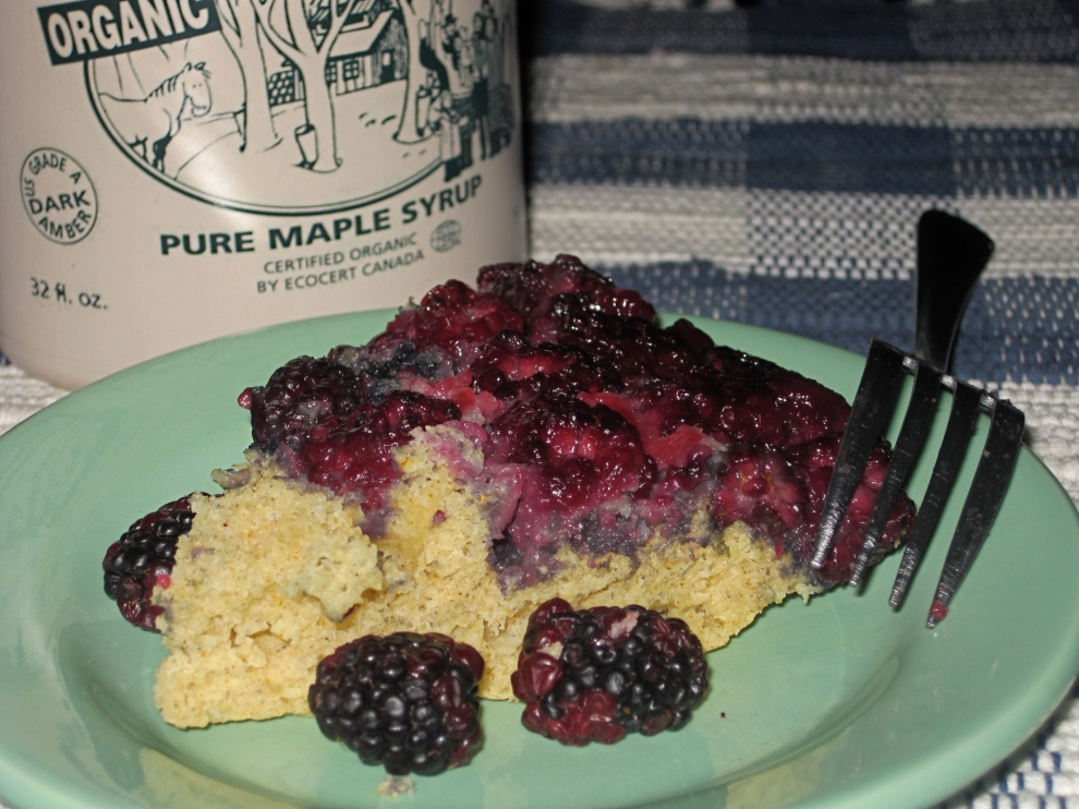 Baked Blackberry Pancake