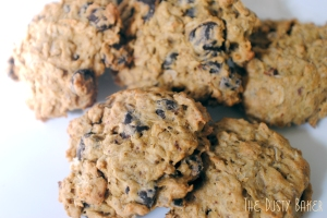 Gluten, Dairy and White Sugar Free Oatmeal Chocolate Chip Cookies
