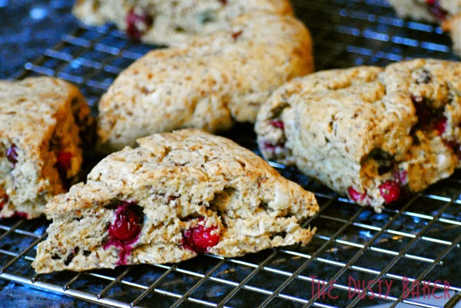 Cranberry Walnut Scones2-TheDustyBaker