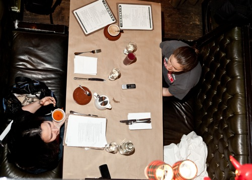 At the table with Executive Chef April Bloomfield, photo Brent Herrig