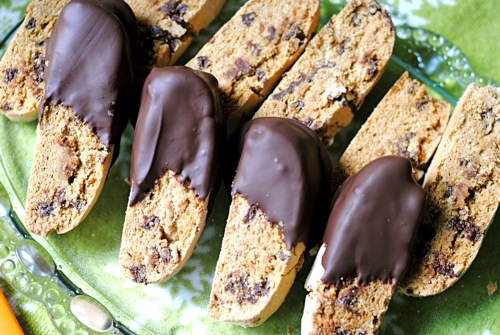 Triple Chocolate Biscotti - TheDustyBaker