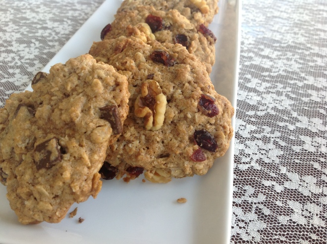 Gluten-Free Oatmeal Cookies: Cranberry Walnut, Chocolate Chunk and Chocolate Walnut