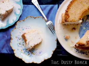 Gluten and dairy-free Rosemary Lemon Angel Food Cake