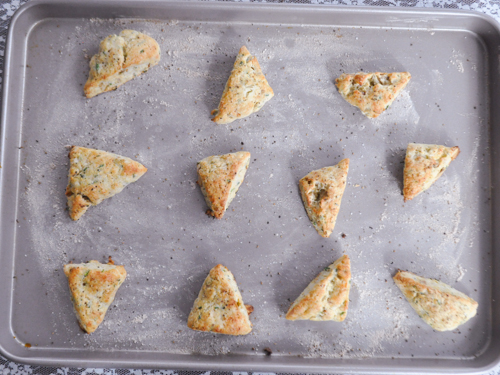 Gluten-Free Goat Cheese, Chive and Walnut Scones - The Dusty Bak