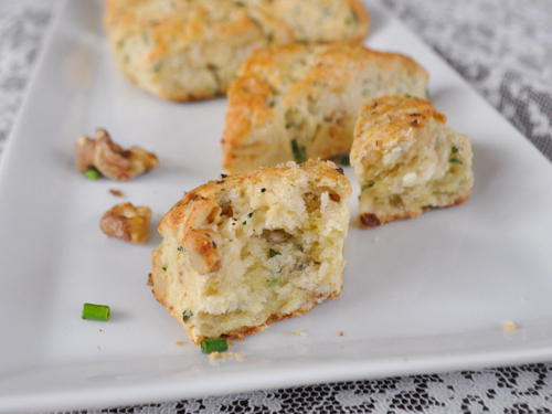 Goat Cheese, Chive and Walnut Scone - TheDustyBaker-4
