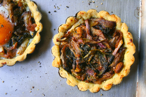 Ramp and Maitake Tart - Gluten-free - The Dusty Baker-3