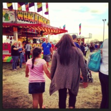 My cousin and her daughter at the fair.