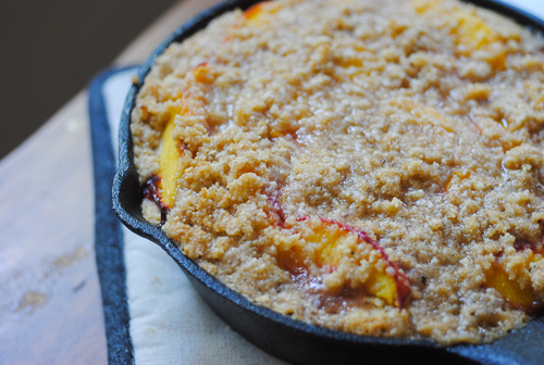 Nutty Gluten-Free Peach Buckle for Four