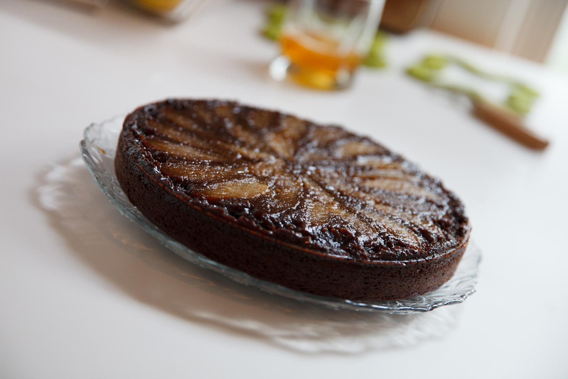 Upside-Down Pear Gingerbread Cake (gluten free) | The Dusty Baker