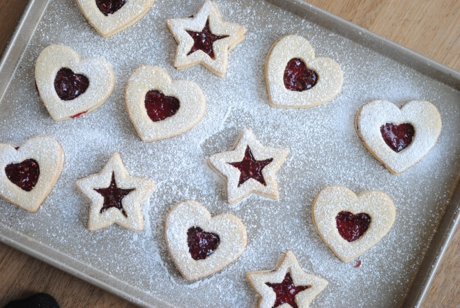 Gluten-Free Raspberry Linzer Cookies - The Dusty Baker (1)