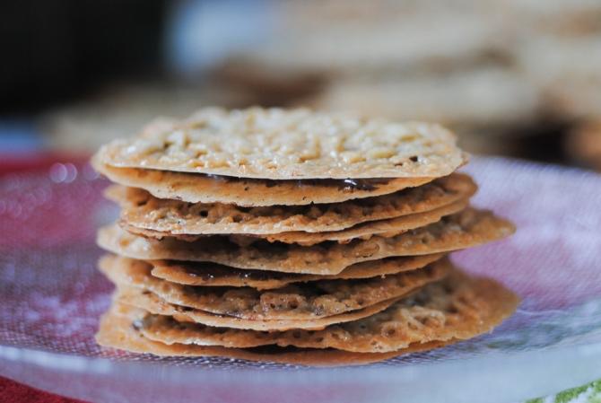 Gluten-free, vegan lace cookies