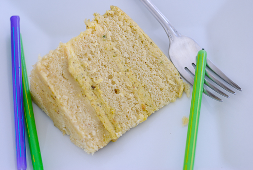 Piscachio Layer Cake - TheDustyBaker