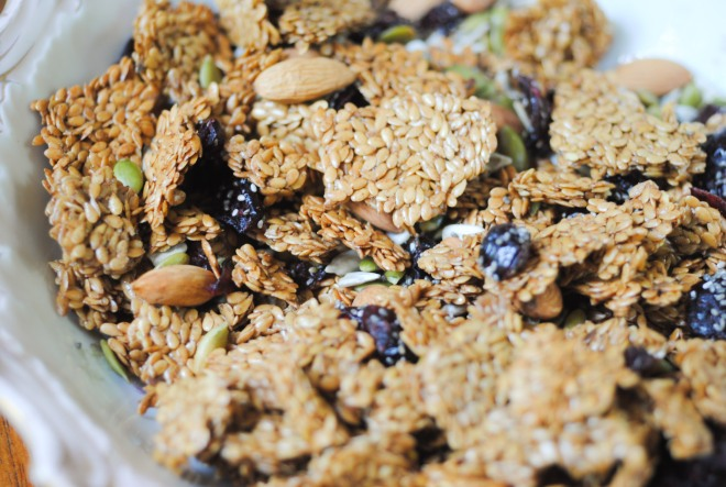 Gluten-Free Flax Granola - The Dusty Baker