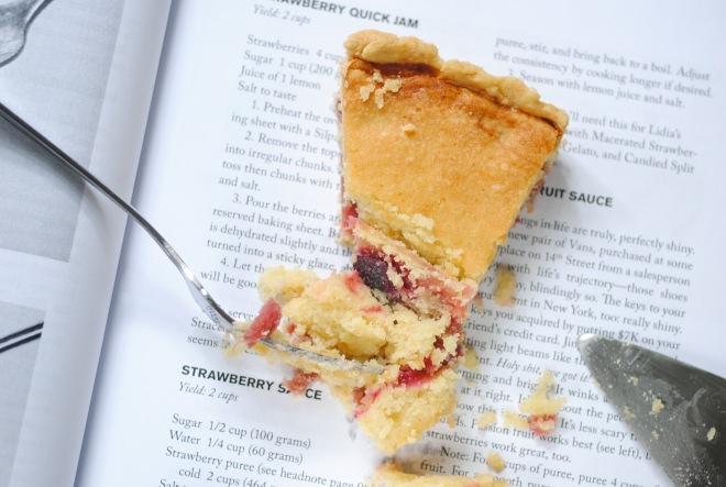 Gluten-Free Fragipane Tart with Rhubarb Plum Quick Jam