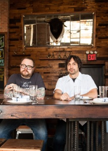 Chefs Jamie Bissonnette (left) and Ken Oringer at Toro, photo Brent Herrig