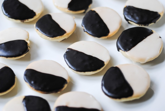 Gluten-Free Black and White Cookies - The Dusty Baker