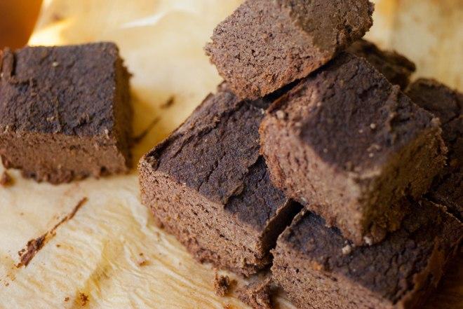 Gluten, dairy, nut, grain, sugar free carob cake